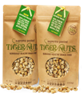 2 bags SUPREME PEELED Organic Tiger Nuts - 2 x 142g